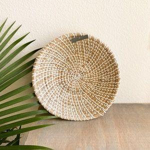 boho woven basket wall art